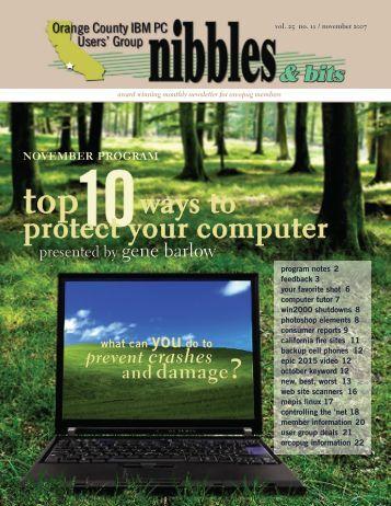 Nov. 2007 - Orange County IBM PC Users' Group