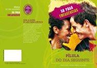 Folheto Informativo sobre a Contracepção de Emergência