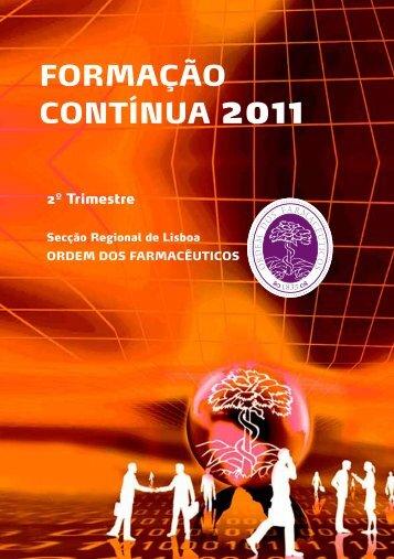 FORMAÇÃO CONTÍNUA 2011 - Ordem dos Farmacêuticos