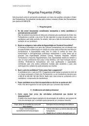 Perguntas e Respostas Frequentes - Ordem dos Farmacêuticos