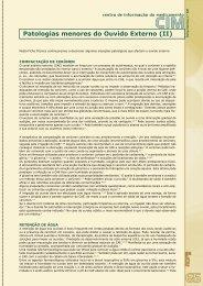 Patologias menores do Ouvido Externo (II) - Ordem dos Farmacêuticos