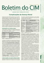 Complicações da Doença Renal - Ordem dos Farmacêuticos