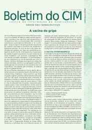 A vacina da gripe - Ordem dos Farmacêuticos