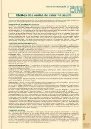 Efeitos das ondas de calor na saúde - Ordem dos Farmacêuticos