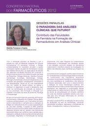 DOS Farmacêuticos 2012 - Ordem dos Farmacêuticos