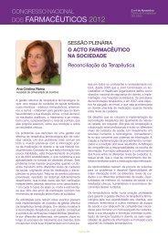 Reconciliação da Terapêutica - Ordem dos Farmacêuticos