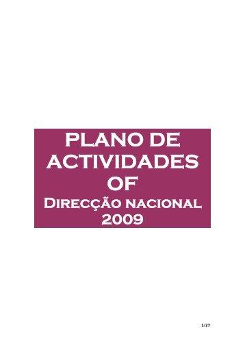 Plano de Actividades e Orçamento da Direcção Nacional