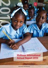 Malteser International Annual Report 2010 - Ordine di Malta