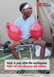 Haiti: A year after the earthquake Haití: Un año ... - Ordine di Malta