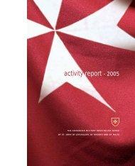 activity report - 2005 - Ordine di Malta