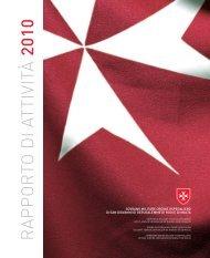 R A P P O R TO D I ATTIVITÀ 2010 - Ordine di Malta