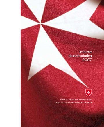 Informe de actividades 2007 - Ordine di Malta
