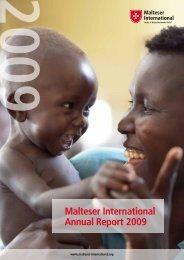 Malteser International Annual Report 2009 - Ordine di Malta