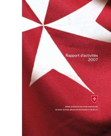 Rapport d'activités 2007 - Ordine di Malta