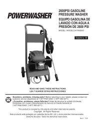 2600PSI GASOLINE PRESSURE WASHER ... - OrderTree.com