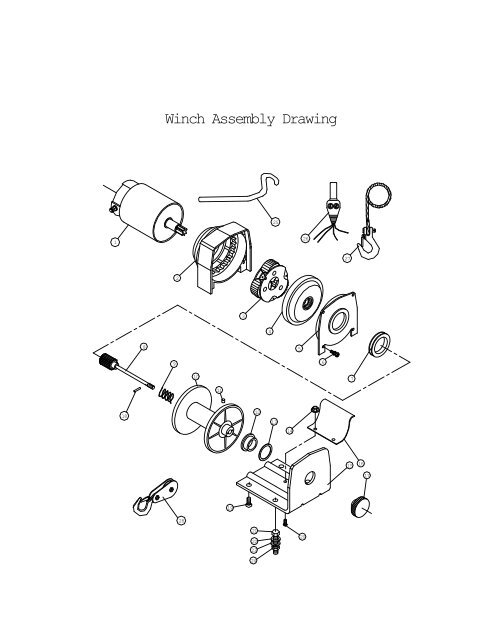 Winch Assembly Drawing