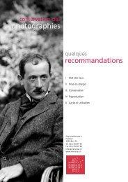 Recommandations Memoriav - Institut suisse pour la conservation ...