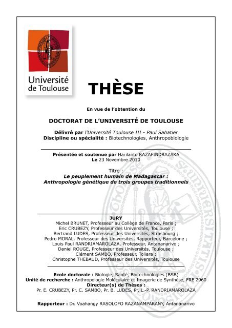 Calendrier Universitaire Paul Sabatier.Theses Universite Toulouse Iii Paul Sabatier