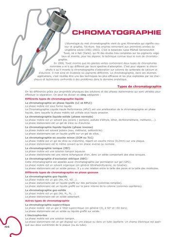 CHROMATOGRAPHIE - Carlo Erba Reagents
