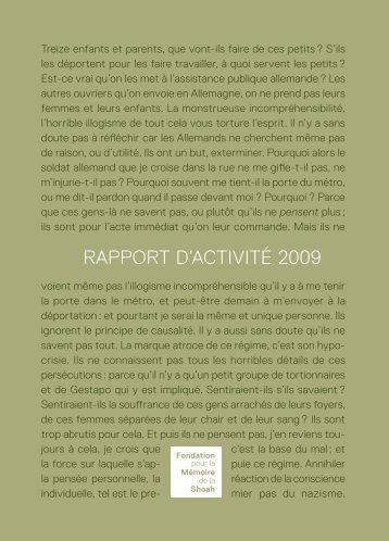 RAPPoRT d'AcTIvITé 2009 - Ordiecole.com