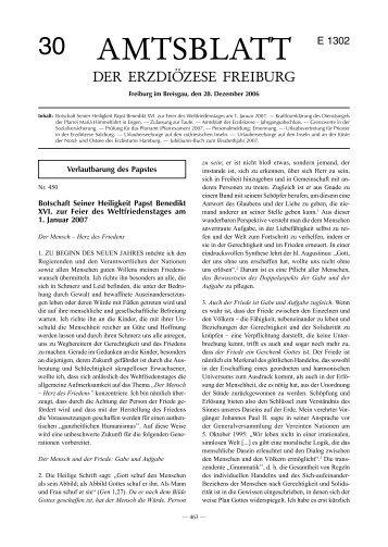 Amtsblatt Nr. 30 - Erzbischöfliches Ordinariat Freiburg