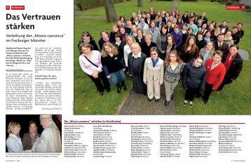 """Die """"Missio canonica"""" - Erzbischöfliches Ordinariat Freiburg"""