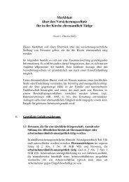 Merkblatt über den Versicherungsschutz für in der Kirche ...