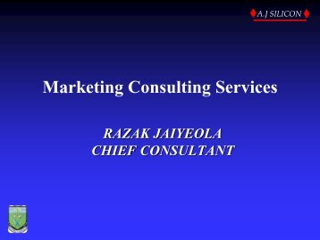 Marketing of Consulting Services - The Institute of Chartered ...