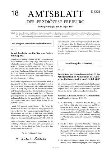 Amtsblatt Nr. 18 - Erzbischöfliches Ordinariat Freiburg