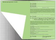 Zeitplan / Programminhalte - Designers Open