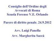 Parere di diritto penale - Ordine degli Avvocati di ROMA