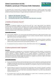 Sintesi convenzione Uni.Riz. Prodotti e servizi per il Processo Civile ...