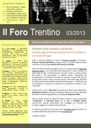 numero 3 - Ordine degli Avvocati di Trento
