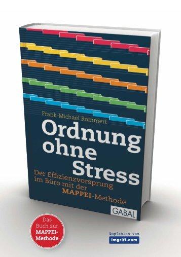 das acht Seiten umfassende Infoheft - Ordnung ohne Stress