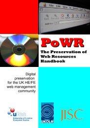 Handbook - JISC PoWR