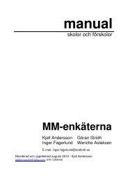 Manual skolor och förskolor - Miljömedicin Kjell Andersson Örebro