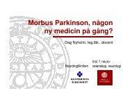 Mobus Parkinson, någon ny medicin på gång?
