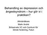 Behandling av depression och ångestsyndrom – hur gör vi i praktiken?