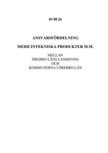 medicintekniska produkter - Örebro läns landsting