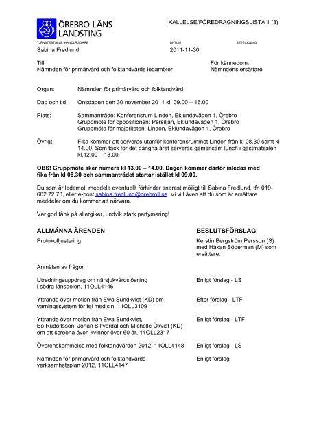 VSG - Örebro läns landsting