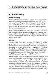 4. Behandling av fetma hos vuxna - SBU