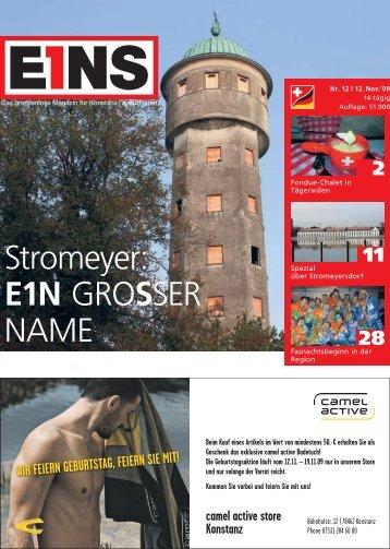 12. November `09 (PDF) - E1NS-Magazin