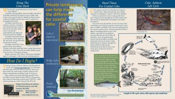 Private landowners can help make the difference ... - State of Oregon