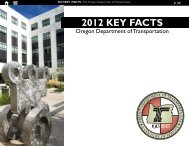 ODOT Key Facts - State of Oregon