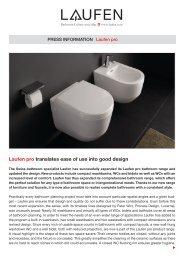 Laufen pro translates ease of use into good design
