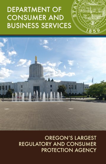 department Of cOnsumer and Business services - State of Oregon