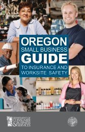 Oregon Small Business Guide to Insurance and ... - State of Oregon