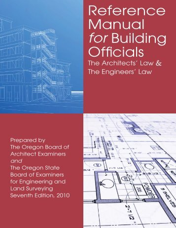 Reference Manual for Building Officials - State of Oregon