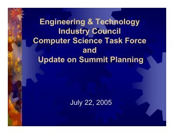 07-22-05 Report to ETIC - Engineering and Technology Industry ...