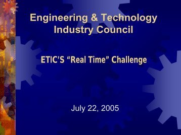 Oregon Industry 2005-2010 Research Needs - Engineering and ...